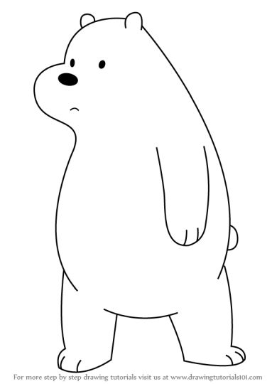 We Bare Bears Coloring Pages 7