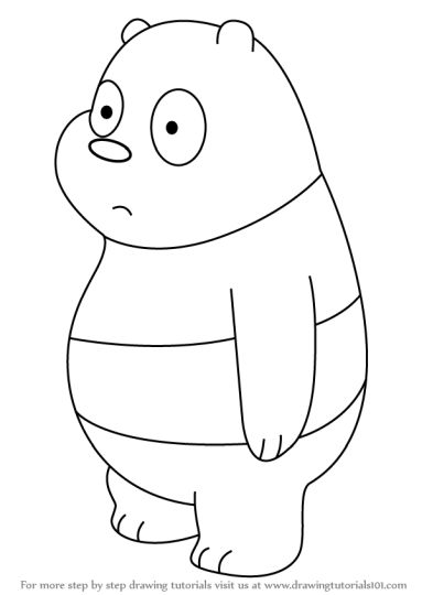 We Bare Bears Coloring Pages 9