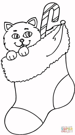 christmas cat coloring pages - photo#16