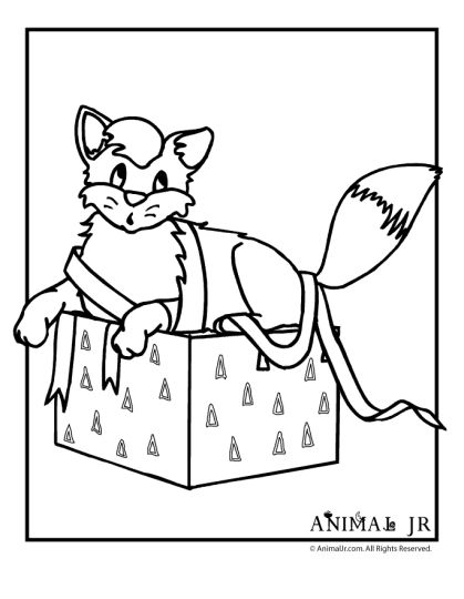 christmas cat coloring pages - photo#29