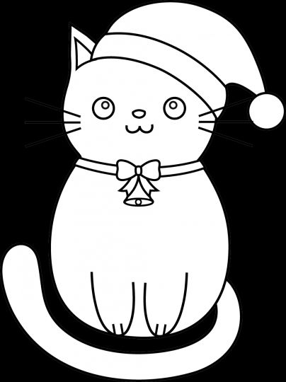 Christmas Cat Coloring Pages 16