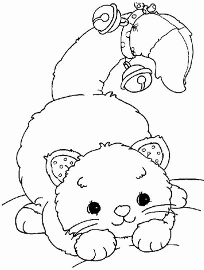 Christmas Cat Coloring Pages Part 3