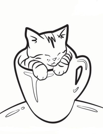 Christmas Cat Coloring Pages 40