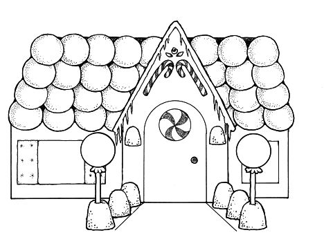Christmas House Coloring Pages 10