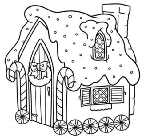 Christmas House Coloring Pages - Part 2