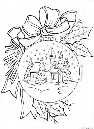 Christmas House Coloring Pages 14