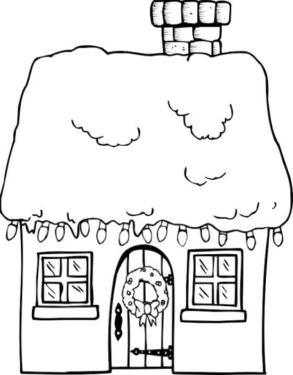Christmas House Coloring Pages 15
