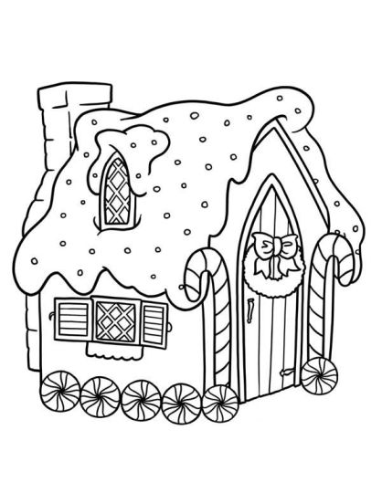 Christmas House Coloring Pages 16