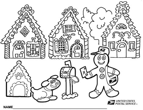 Christmas House Coloring Pages 17