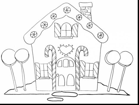 Christmas House Coloring Pages 18