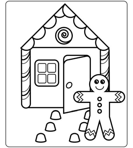 Christmas House Coloring Pages 19
