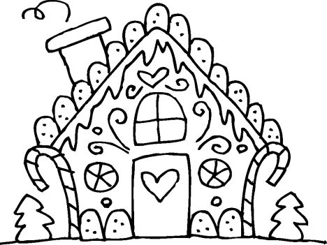 Christmas House Coloring Pages 20