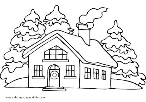 christmas house coloring pages 21