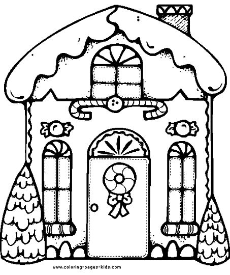 Christmas House Coloring Pages 22