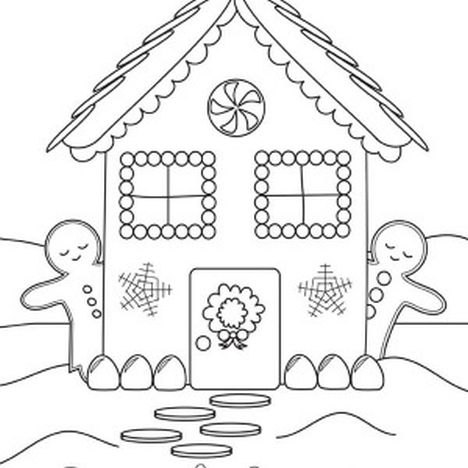 Christmas House Coloring Pages 23