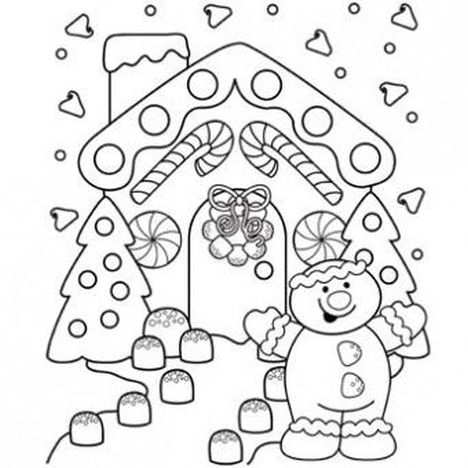 Christmas House Coloring Pages 24