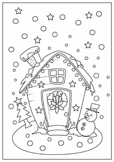 Christmas House Coloring Pages 25