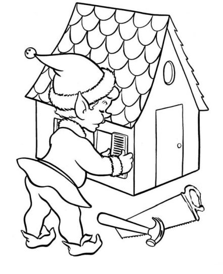 Christmas House Coloring Pages 26