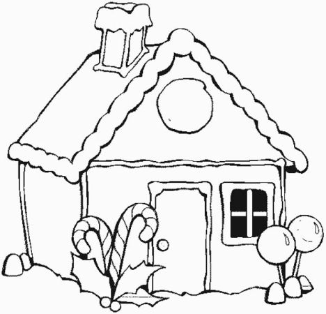 Christmas House Coloring Pages 27