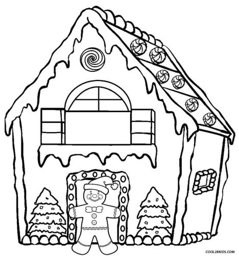 Christmas House Coloring Pages 28