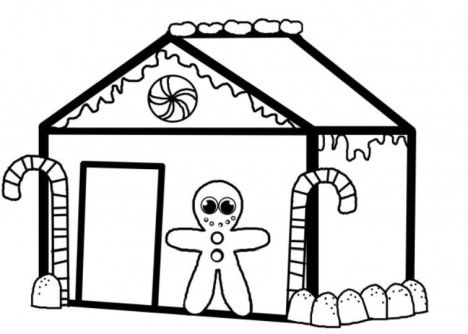 Christmas House Coloring Pages 29
