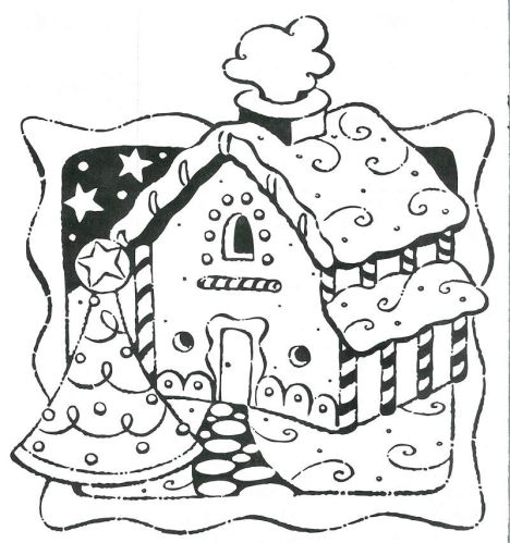 Christmas House Coloring Pages 3