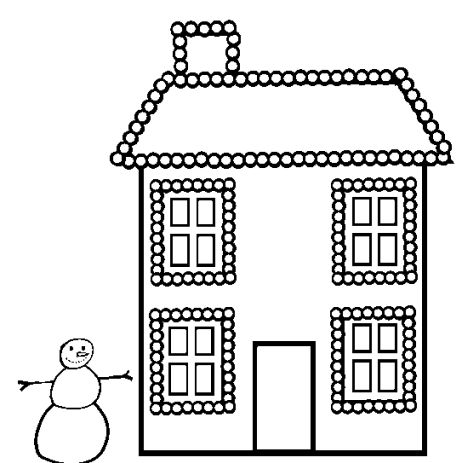 Christmas House Coloring Pages 30