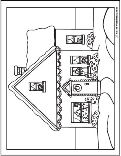 Christmas House Coloring Pages 31