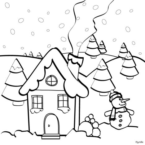 Christmas House Coloring Pages 32