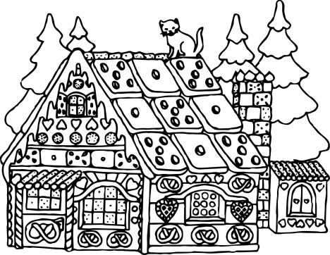 Christmas House Coloring Pages 33