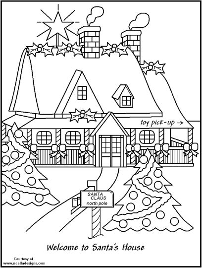 Christmas House Coloring Pages 34