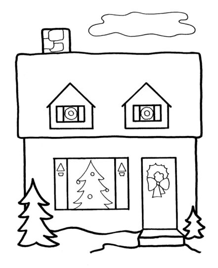 Christmas House Coloring Pages 35