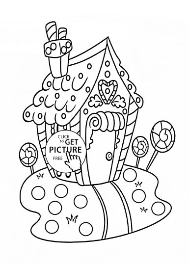 Christmas House Coloring Pages 36