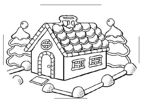 Christmas House Coloring Pages 37