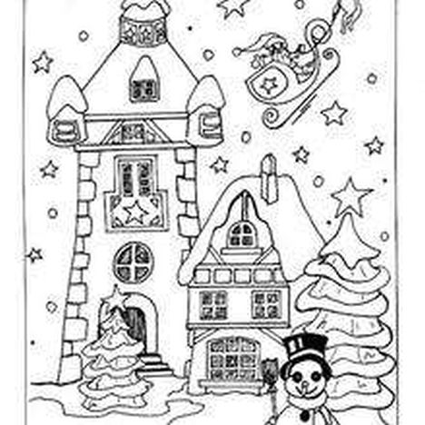 Christmas House Coloring Pages 38