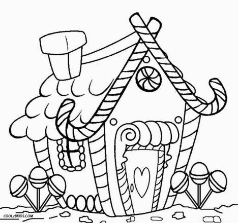 Christmas House Coloring Pages 39