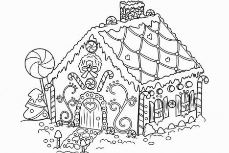 Christmas House Coloring Pages 40