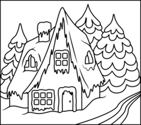 Christmas House Coloring Pages 42