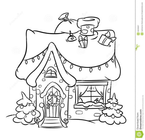 Christmas House Coloring Pages 44