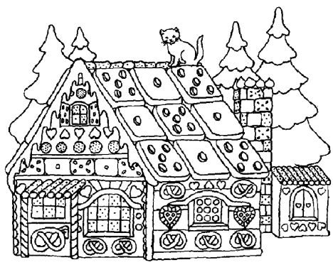 Christmas House Coloring Pages 45