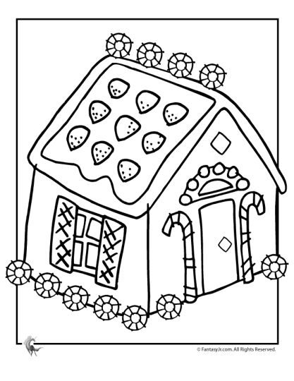 Christmas House Coloring Pages 46