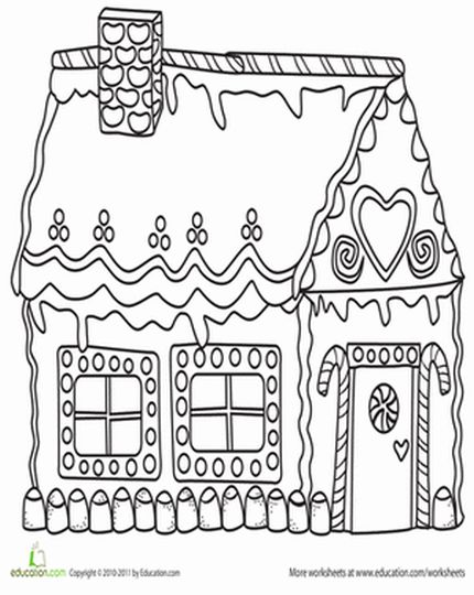 Christmas House Coloring Pages 47