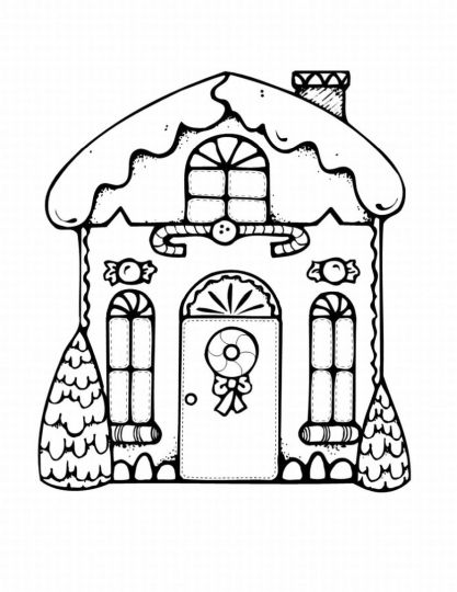 Christmas House Coloring Pages 48