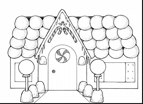 Christmas House Coloring Pages 49