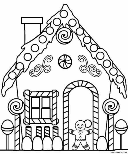 Christmas House Coloring Pages 50