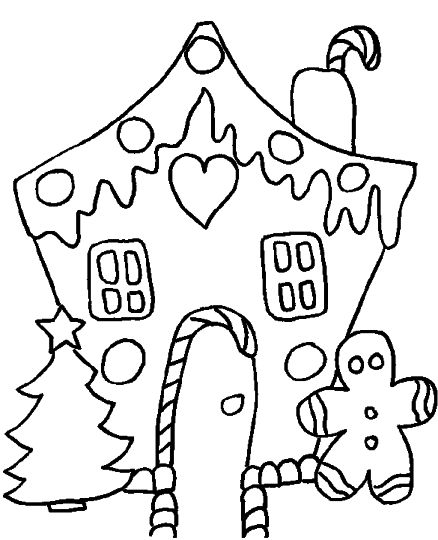 Christmas House Coloring Pages 51