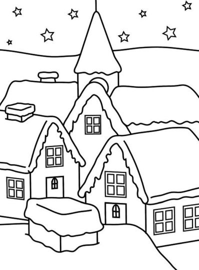 Christmas House Coloring Pages 52