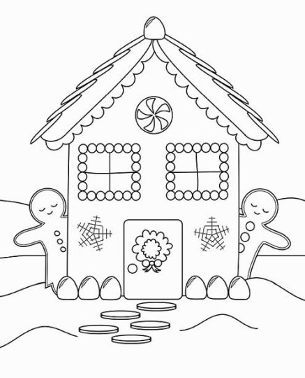 Christmas House Coloring Pages 53