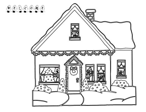 Christmas House Coloring Pages 54