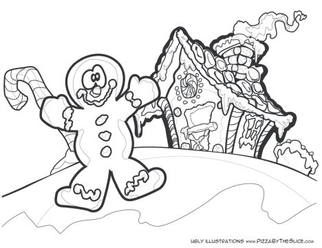 Christmas House Coloring Pages 55